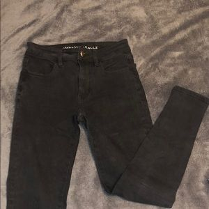 American Eagle black skinny jeans, Size 0 short